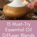 smart living mama pinterest pin with an essential oil diffuser