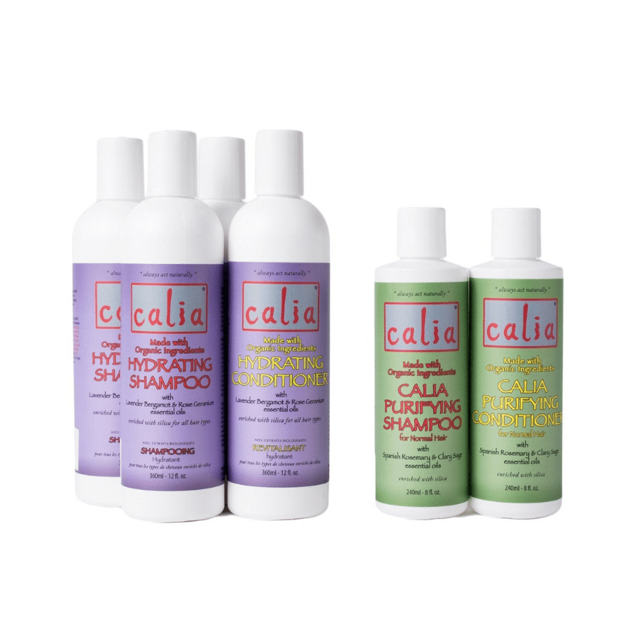Calia Natural shampoo and conditioner bottles