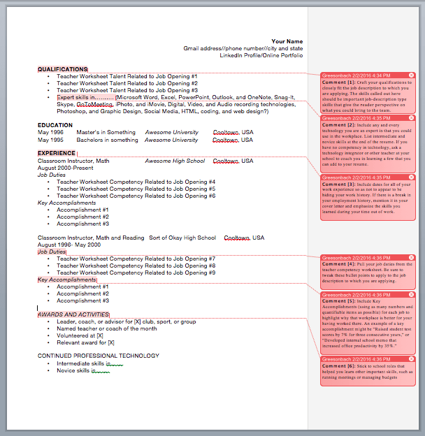 Resume Template Example