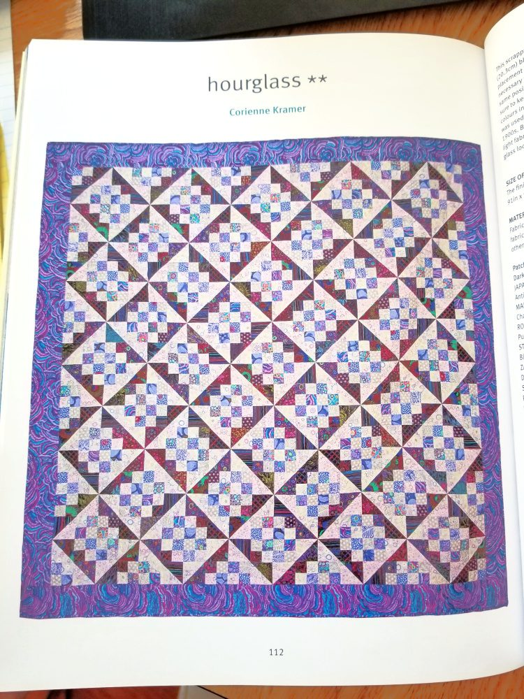 Hourglass Quilt design from Kaffe Fassett's Quilts in Ireland book.