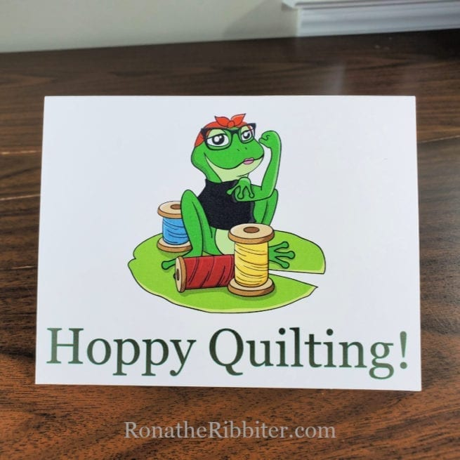Hoppy Quilting note cards