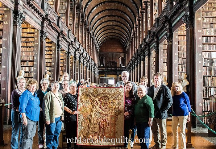 What is a Quilt tour | Mark Sherman Book of Kells quilt at Trinity College