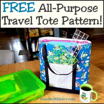 Free Travel Tote bag pattern