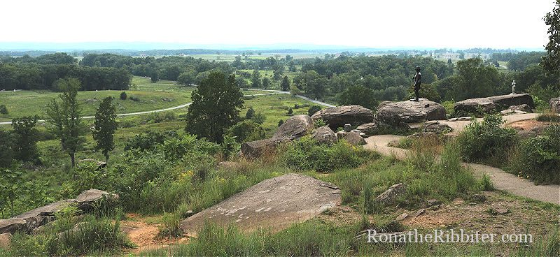 Little Round Top in Gettysburg Battlefield