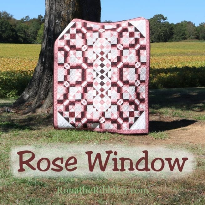 Rose window quilt pattern cover