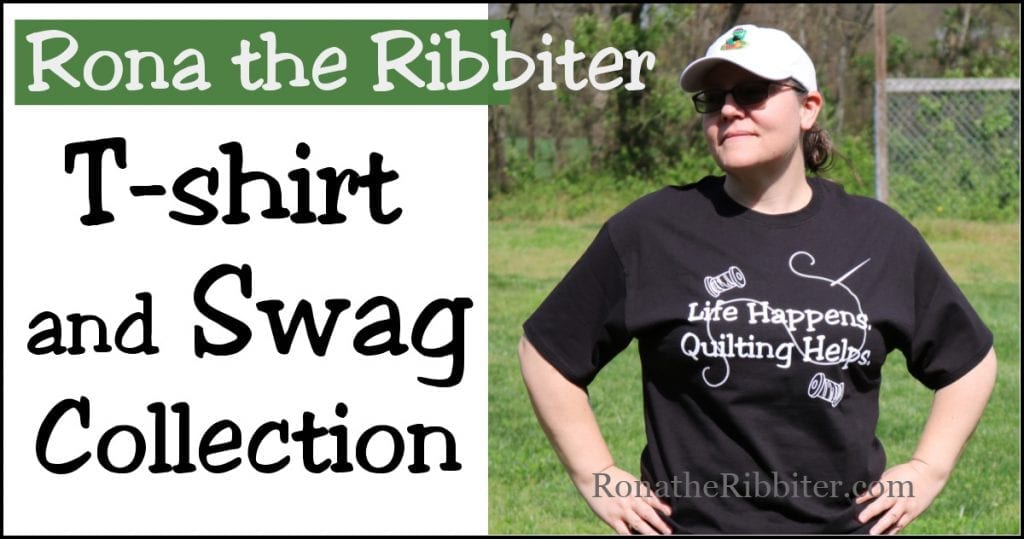 quilting t-shirts | Rona the Ribbiter