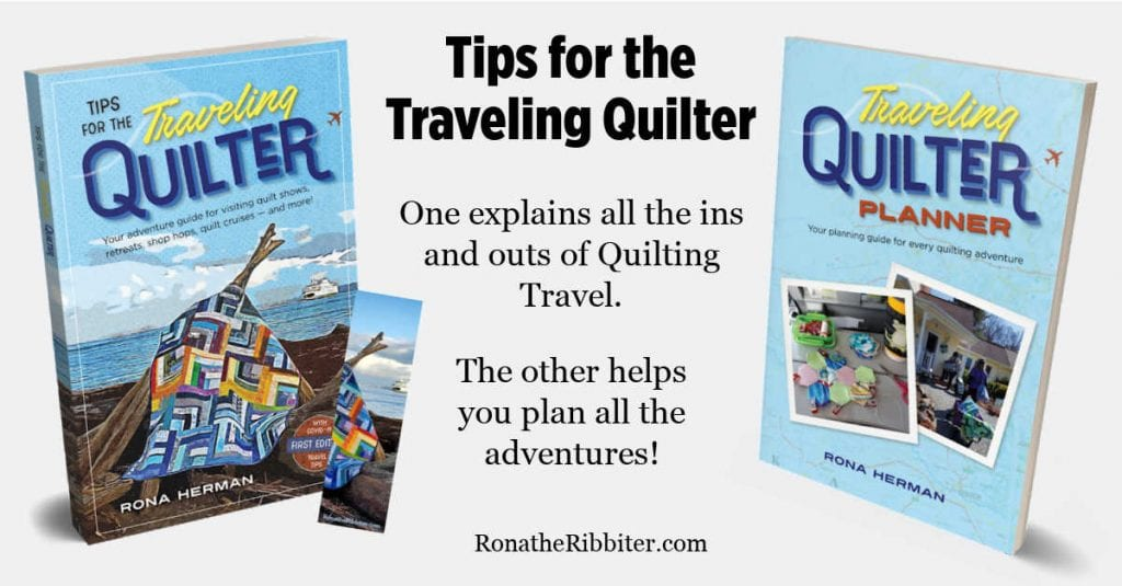 Tips for the traveling quilter book and planner