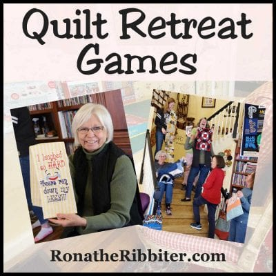 Games for Quilt retreat