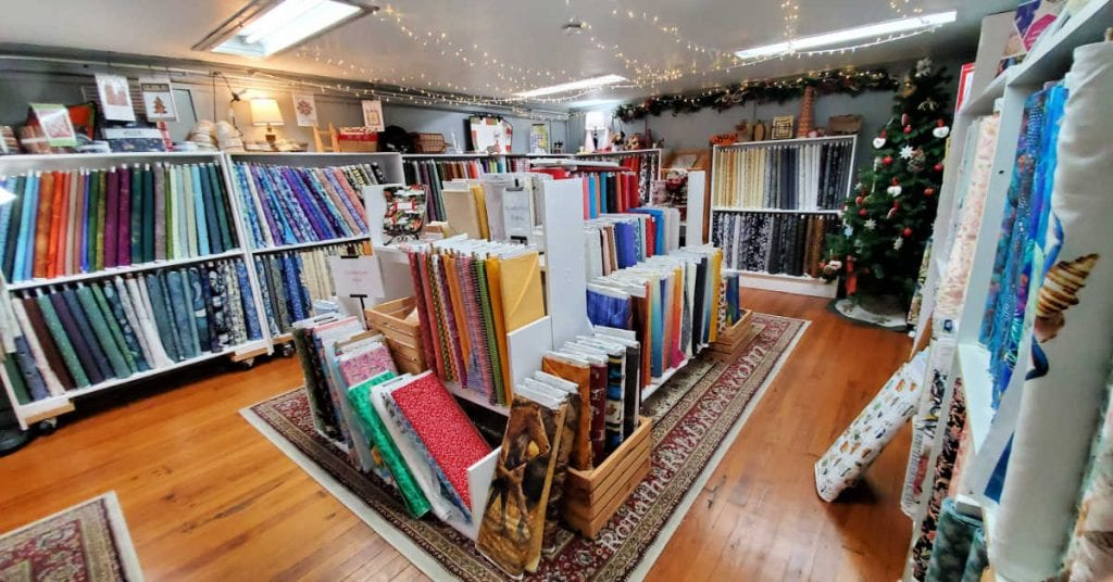 Fabric selection at Miss D's | Rona the Ribbiter