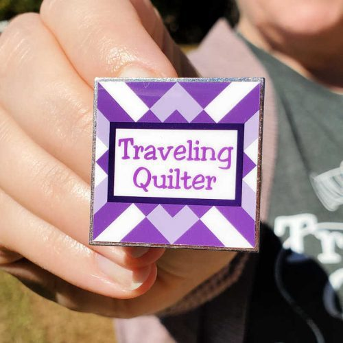 Traveling Quilter Pin