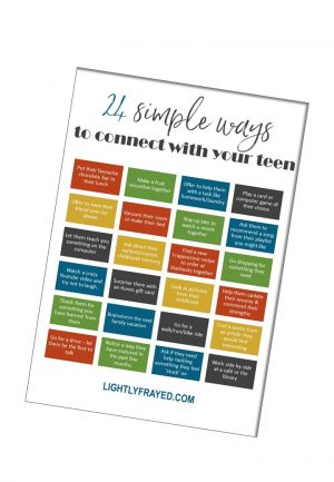 24 ways to connect with teenagers