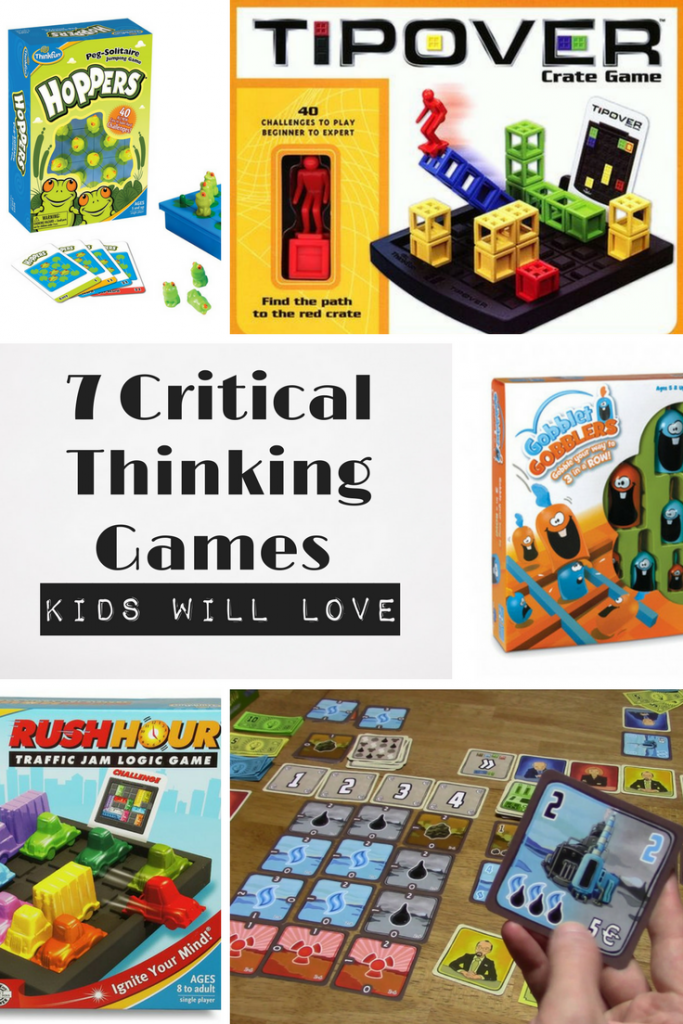 Help your child develop critical thinking skills by selecting games that are challenging and engaging.