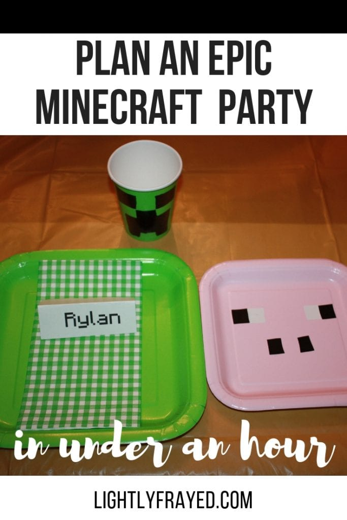 Plan a Minecraft birthday party in under an hour. On a budget.