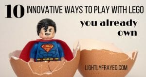 Play with Lego you already own - superman minifig in an eggshell