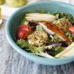 Pistachio Crusted Goat Cheese Medallion Salad