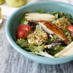 Pistachio Crusted Goat Cheese Medallions Salad