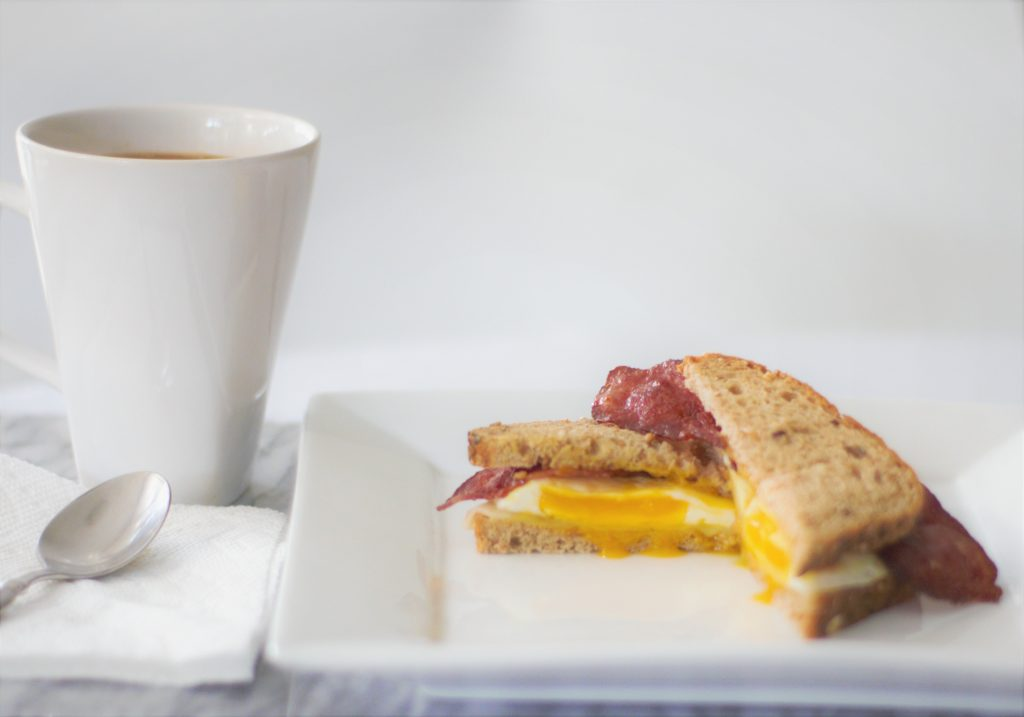 Turkey Bacon, Egg and Cheese Breakfast Sandwich