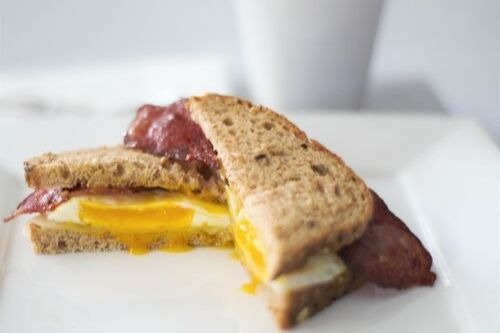 Turkey Bacon, Egg and Cheese Sandwich