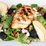 Marinated Grilled Chicken with Blackberry Salad