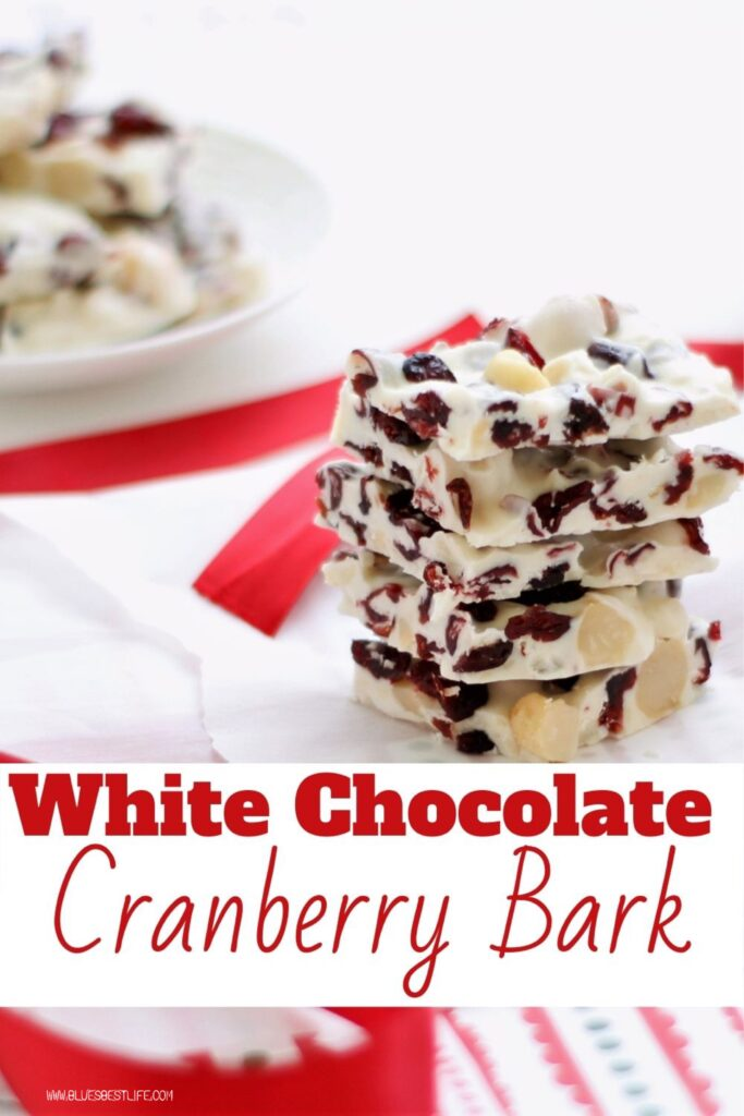 Graphic for white chocolate cranberry bark