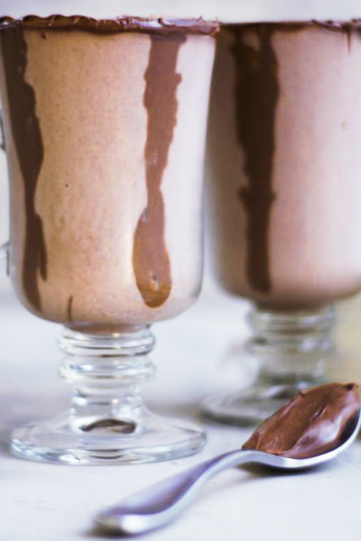 Two glasses of Nutella milkshake
