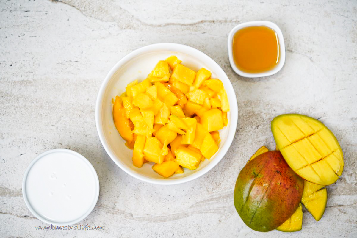 ingredients for mango popsicles