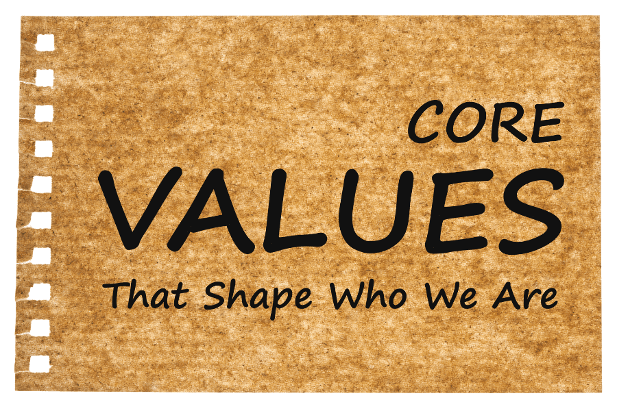 Your personal values shape who you are